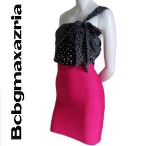 Bcbgmaxazria Pink Bandage Mini Skirt - Size XS